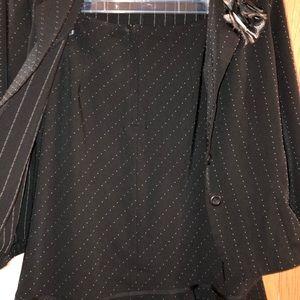 Black suit with strip
